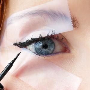 Utilizza lo Scotch per il Make up degli Occhi come uno Stencil