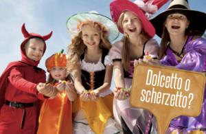 bambini in maschera per la festa di halloween